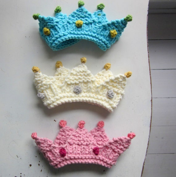 Royal Baby Crown Knitting Pattern Photo Prop Bulky Yarn Etsy
