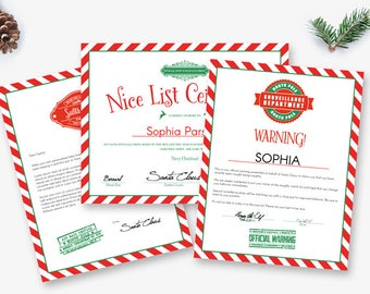 Letter from santa etsy personalized letters from santa editable nice list certificate customizable naughty list warning envelope from north pole spiritdancerdesigns Choice Image
