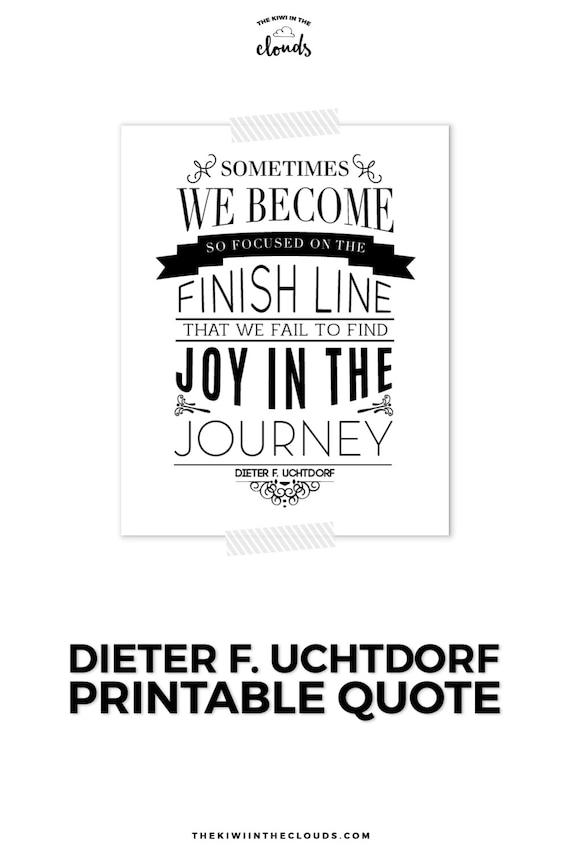 Citar a LDS Mormón cita Uchtdorf citar arte imprimible