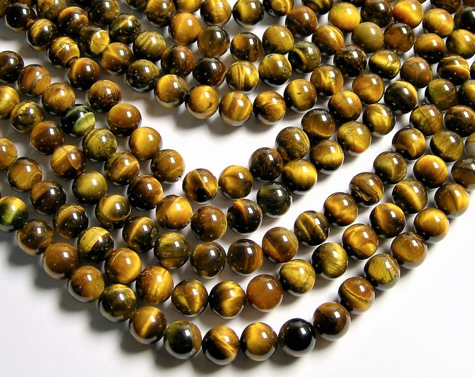 Tiger eye - 10mm round bead - full strand  - 40 beads - RFG453