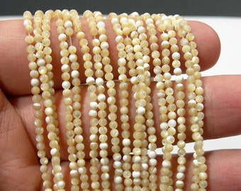 Mother of pearl - 2mm(.2.2mm) round beads - full strand 170 beads - MOP - PG42