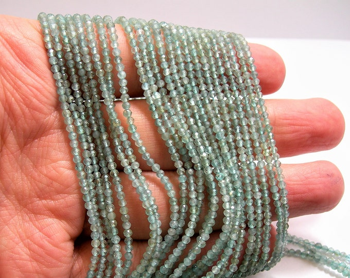 Apatite - 2mm micro faceted round beads - 188 beads - Full strand 16 inch - 40 cm  - A Quality - PG115