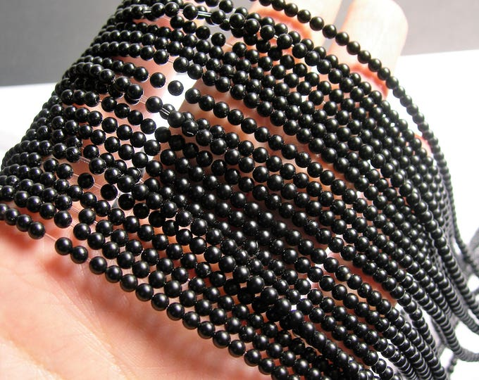 Black Onyx - matte -  3 mm round beads -1 full strand - 126 beads - AA quality - RFG1353