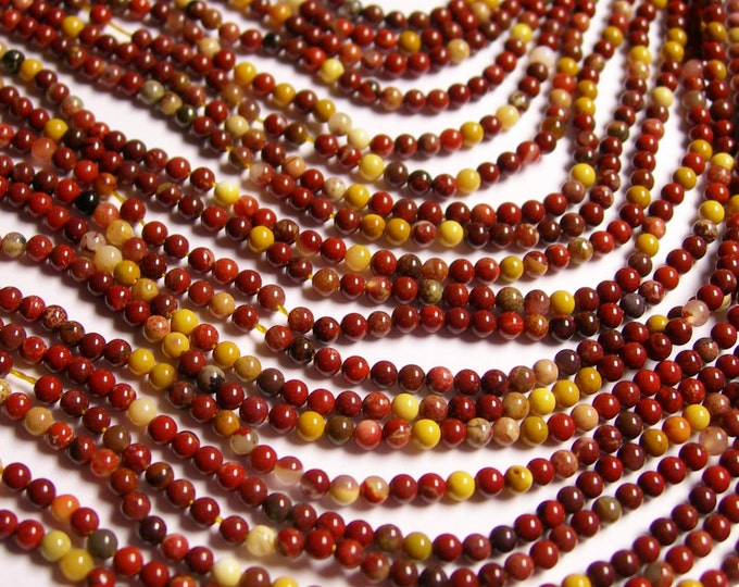 Mookaite - 2mm round - 1 full strand - 175 beads - A quality
