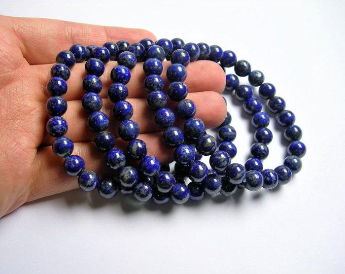 Lapis Lazuli  - 8mm round beads - 23 beads - 1 set - A quality - Natural not dye  - HSG68