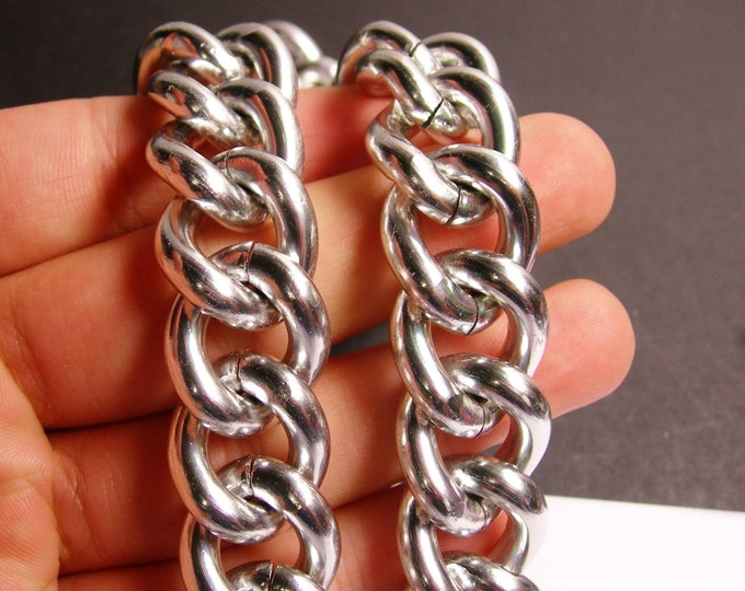 Silver chain - lead free nickel free won't tarnish - 1 meter - 3.3 feet - aluminum chain - cable chain - NTAC96