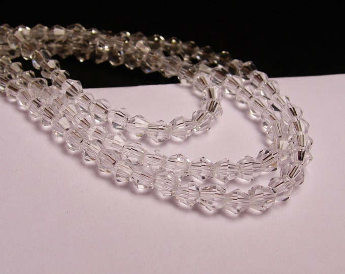 Crystal bicone - 97 pcs - full strand - 3 mm - A quality - crystal clear  - CBCG4