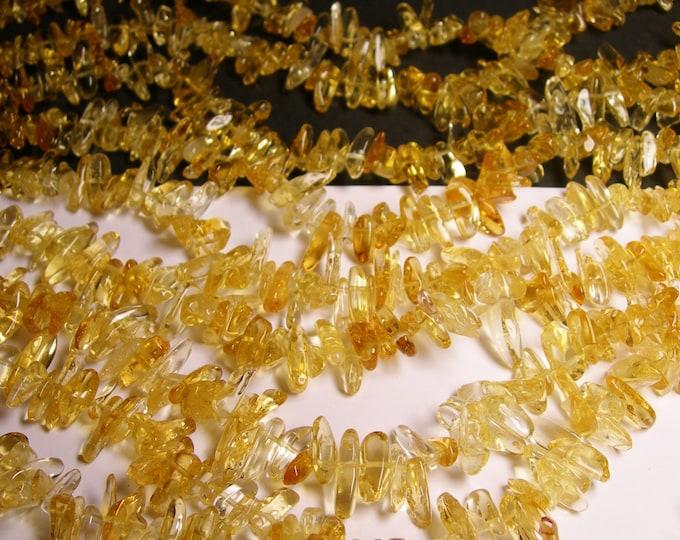 Citrine gemstone - bead - full strand - stick point chip -  A quality - NRG66