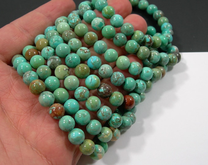 Howlite turquoise - 8mm round beads - 23 beads - 1 set - HSG225