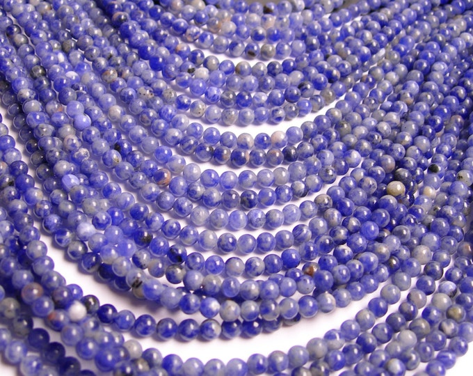 Sodalite - 4 mm round beads -1 full strand - 98 beads - RFG1449