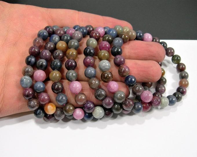 Ruby Sapphire - 23 beads - 1 set - Corundum mineral - HSG151