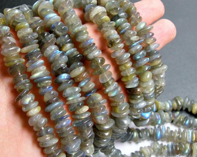 Labradotite gemstone - bead - full strand - pebble - Disc - chip - A quality - PSC144