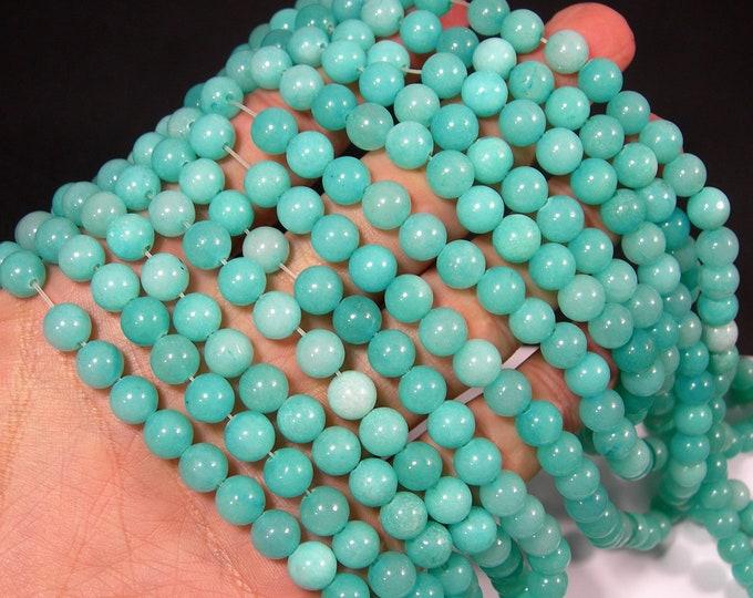 Malaysia Jade - 8 mm round beads - full strand - 48 beads - Amazone blue Jade - RFG1935