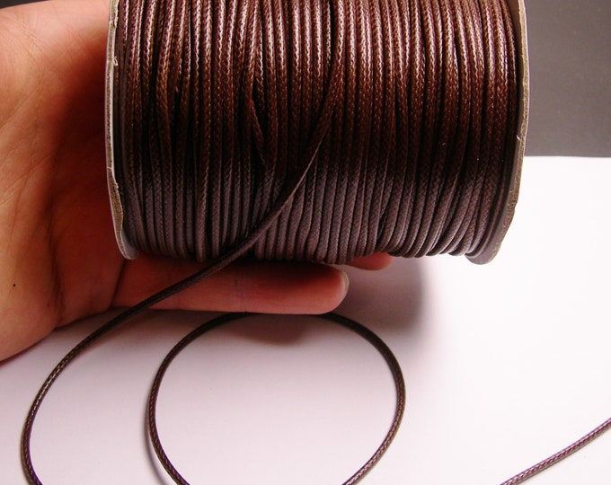 80 meter Brown Polyester waxed cord - 2mm - high quality - 80 meter - 262 foot - Brown - full roll - PECL2
