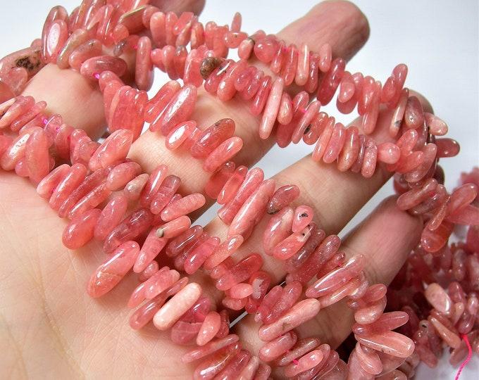 Rhodocrosite gemstone - stick bead - full strand - A quality - PSC424