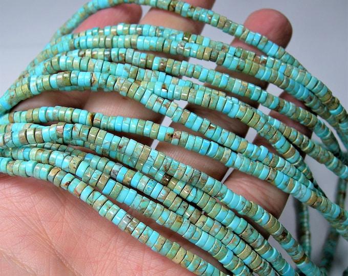 Sea Sediment Jasper - 4mm - HEISHI bead - 204 beads - full strand - Imperial Jasper Heishi rondelle - RFG1464