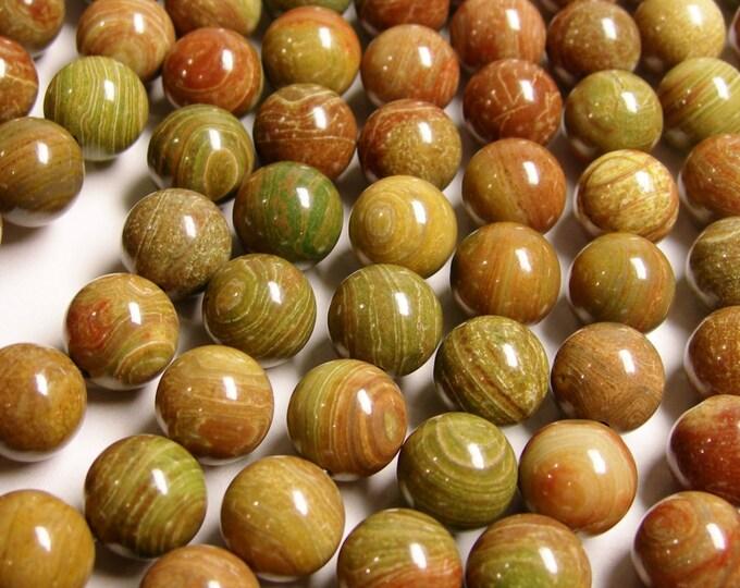 Colorful Jasper - 10 mm round beads -  full strand - 38 pcs - NRG155