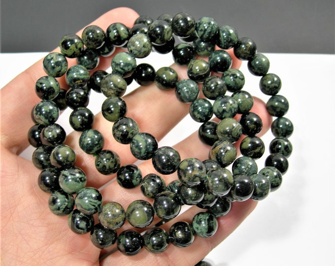 Kambaba jasper - 8mm round beads - 23 beads - 1 set - A quality - HSG5