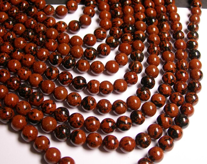 10 strand - Mahogany Obsidian 8 mm A quality - 48 beads per strand - 10 full strand - RFG710