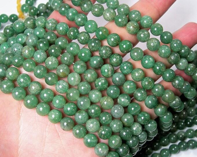 Green Aventurine 8mm round beads -  full strand - 49 beads - Medium tone - Brazil Aventurine - RFG1662