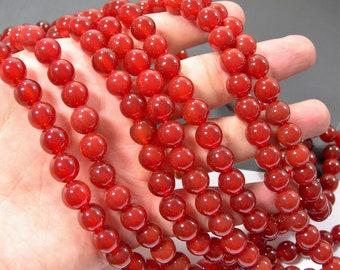 Carnelian - 10mm -  full strand - 39 beads - full strand  - AA quality - RFG819