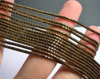 Hematite Bronze - 2mm heishi  beads - 1 full strand - 195 beads - AA quality - PHG200