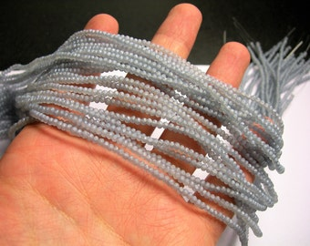 Crystal - rondelle faceted 3mm x  2mm beads - 197 beads - AA quality - Frosted grey - CAA2G153