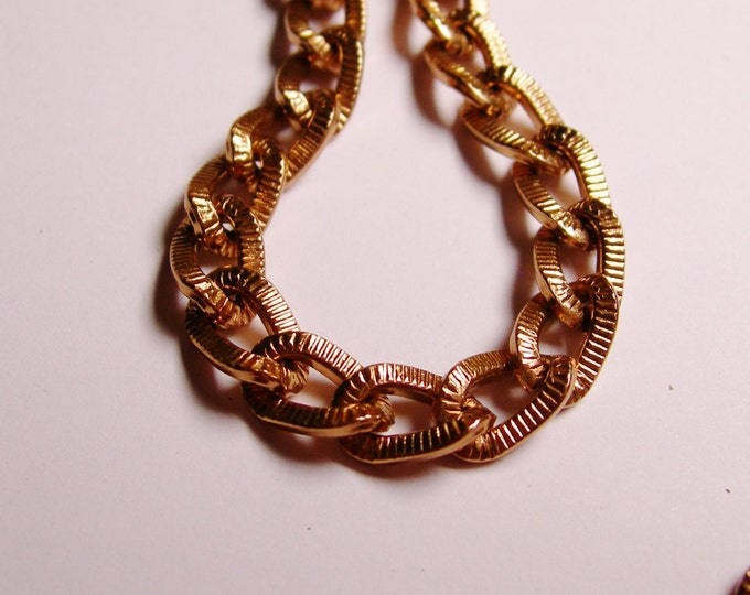 Copper chain - lead free nickel free won't tarnish - 1 meter - 3.3 feet - aluminum chain - textured copper chain - NTAC23