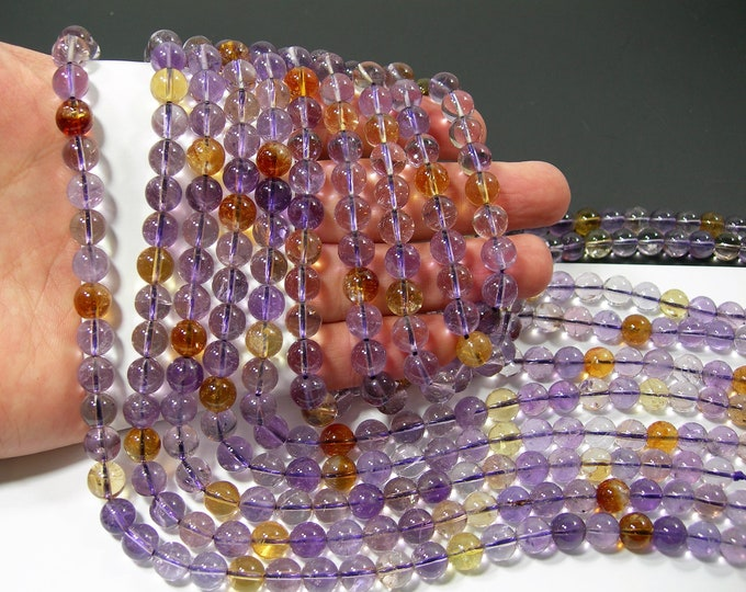 Ametrine - 8mm (8.3mm) round - 1 full strand - 47 beads - RFG2162