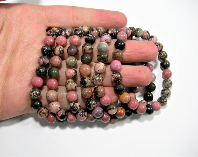 Rhodonite - 1 set - 8mm  - 23 beads - HSG134