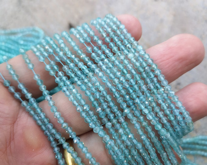 Apatite - 2.6 mm micro faceted beads - 148 beads - Full strand - A Quality - PG398
