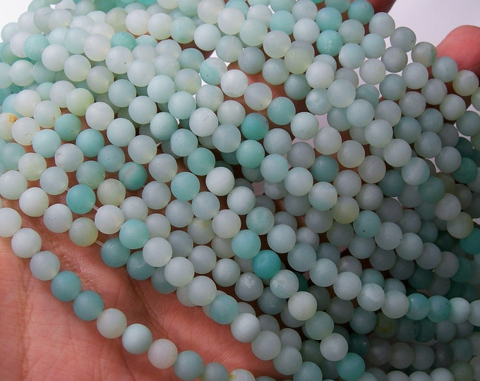 Amazonite - 6mm (6.3mm) round beads - matte -  full strand - 62 beads  - Wholesale Deal - RFG1693
