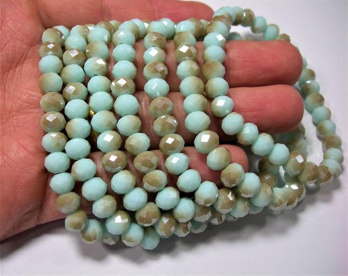 Crystal elastic - 30 beads - 8 mm - 1 set - Dual tone amazon - HSC20