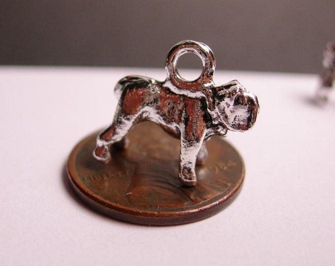 12 dog silver tone charm - 12 pcs  - ASA86