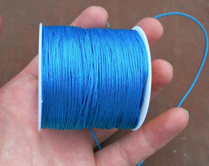 Nylon Cord - knotting/beading cord - 1mm - 70 meter - 230 foot - Aqua  Blue - N11