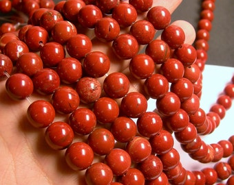Red Jasper - 12 mm round beads -1 full strand - 31 beads - RFG563