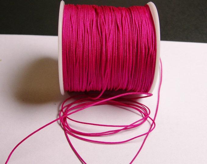 Nylon Cord - knotting/beading cord - 1mm - 70 meter - 230 foot - fuhsia - magenta - N9