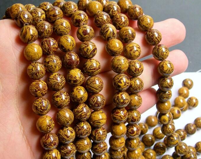 Elephant Jasper - 10 mm round beads - full strand - 40 beads - AA quality - RFG519