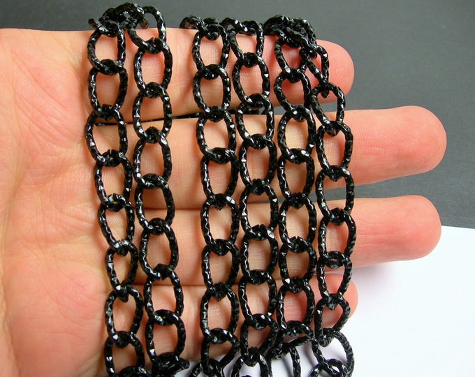 Black chain - 1 meter - 3.3 feet - aluminum chain - NTAC130