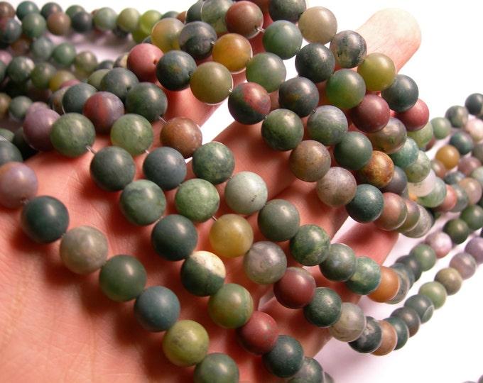 Indian agate 10mm - Matte -  full strand - 39 beads per strand - AA quality - RFG1080