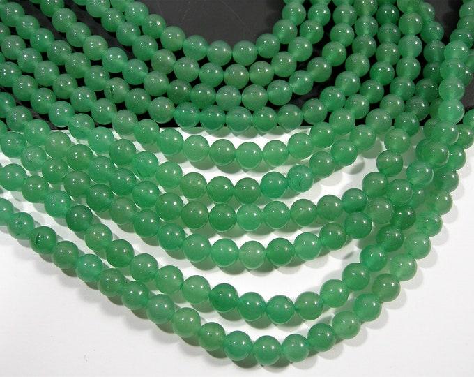 Green Aventurine - 8mm(8.3mm) round beads - full strand - 46 beads  - RFG149