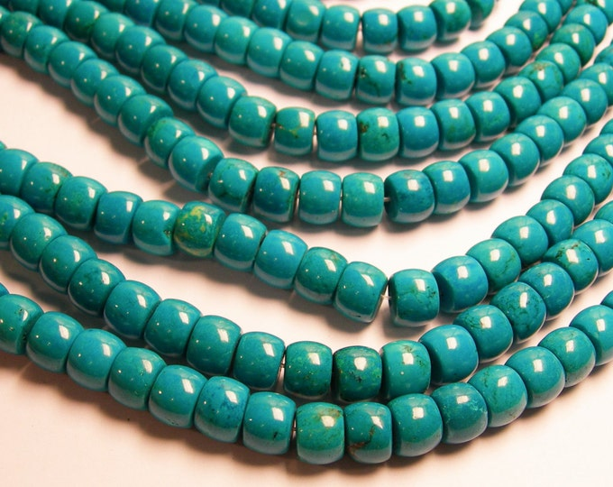 Howlite turquoise - 10mmx8mm barrel beads - 1 full strand - 50 pcs - AA quality - RFG204