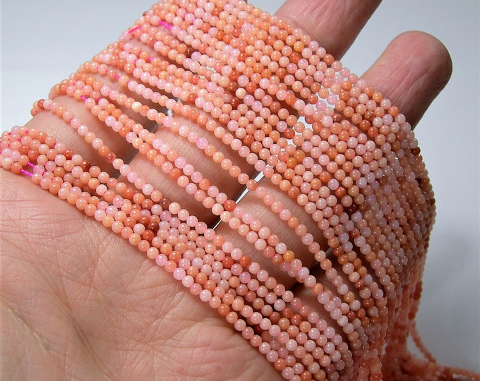 Peach Aventurine - 2mm round beads -  full strand - 180 beads - A Quality - PG38