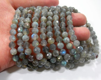 Labradorite - 7mm faceted beads - 27 beads - A quality - 1 set - HSG176