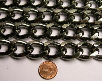 Steel chain - lead free nickel free won't tarnish - 1 meter - 3.3 feet - aluminum chain - curb chain -NTAC148