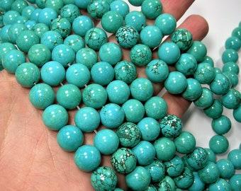 Howlite turquoise - 12mm round beads - 1 full strand - 33 beads - RFG273