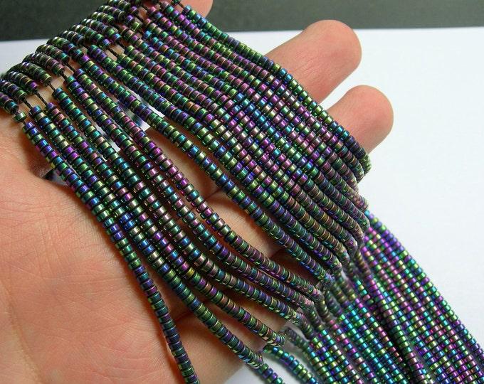 Hematite raibow - 3mm heishi - full strand - 215 beads - AA quality - 3mmx2mm - PHG234