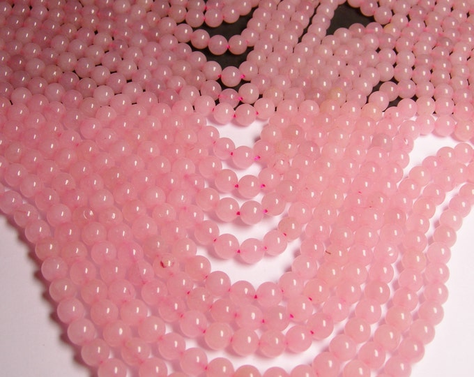 Pink Jade -  8mm round beads -1 full strand - 48 beads - color pink Jade - RFG956
