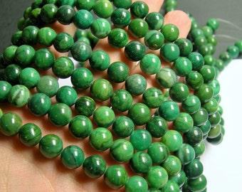 Verdite 10mm round - full strand - 40 beads -  A quality -  Verdite - RFG740