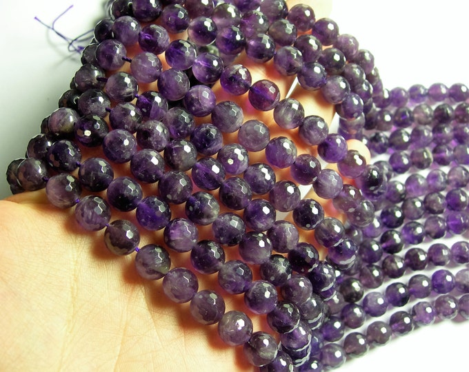 Amethyst - 10mm faceted round - 1 full strand - 40 beads - RFG94